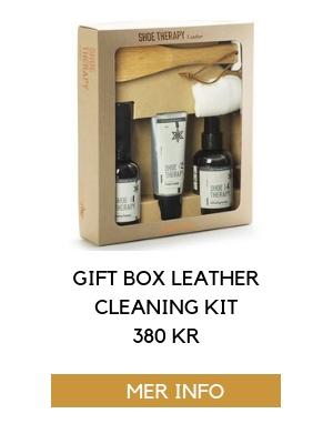 gift box läder rengöring